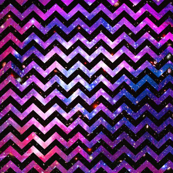 Girly chevron pattern cute pink teal nebula galaxy art for Teal chevron wallpaper