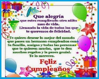 Un Buen Mensaje De Cumpleaños Frases De Cumpleaños Bonitas