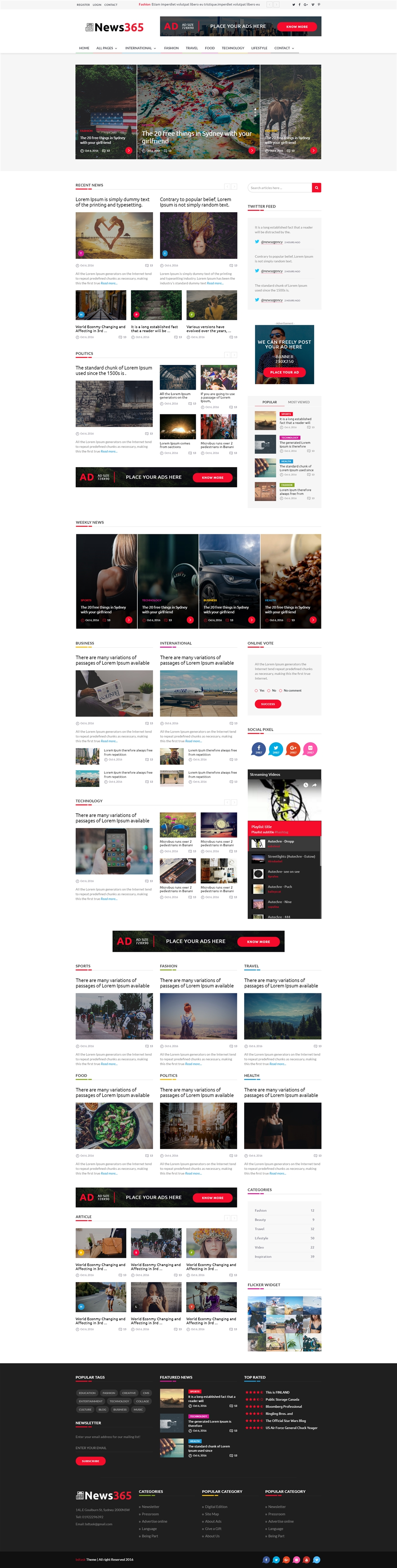 News365 - Newspaper Magazine Blog HTML Multipurpose Template with ...