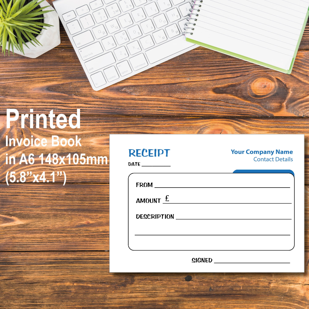 Printed Personalised Duplicate A6 Invoice Book Pad Ncr Etsy Book Pads Prints Service Design