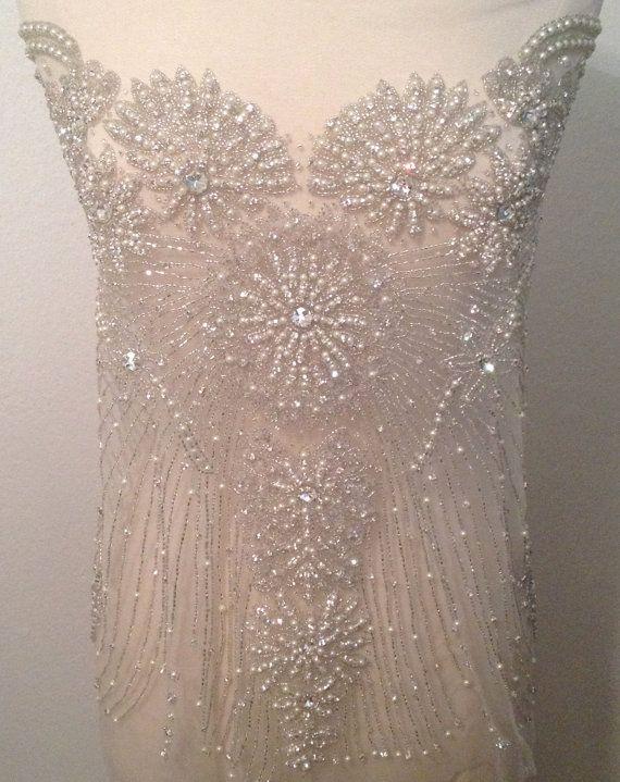 Large Wedding Dress Applique By Katlabel On Etsy