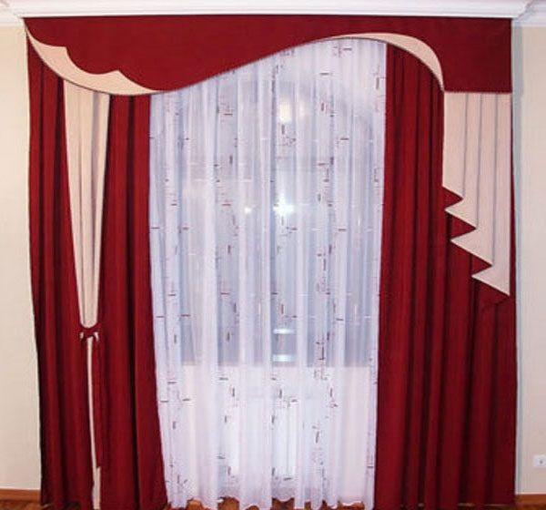 Draperieën: Gordijnen die meestal lang zijn en uit een dik materiaal ...