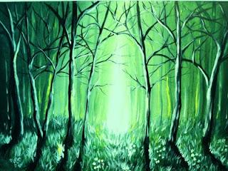 لوحات رسم فنية جميلة بسيطة تشكيلية بالرصاص Starry Night Artwork Art