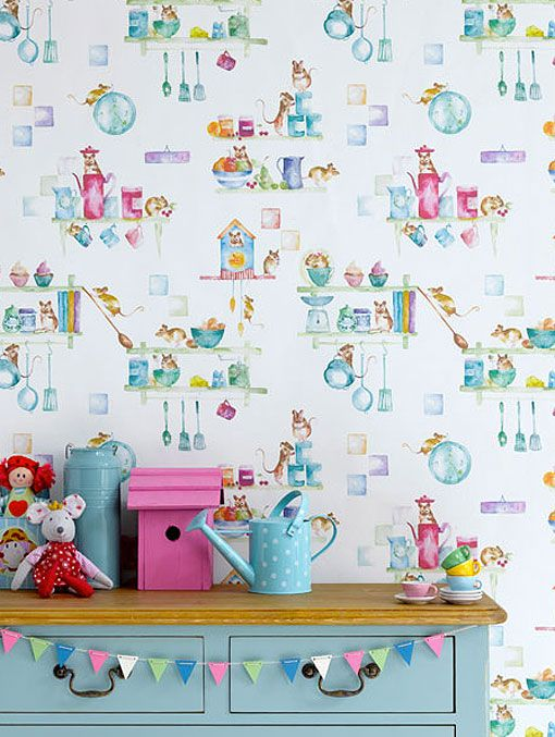 Papeles pintados para habitaciones infantiles y juveniles for Papel pintado infantil