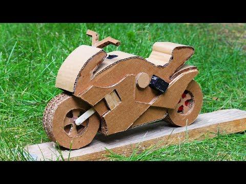 Voici Comment Fabriquer Une Moto En Carton Tuto Video Motorcycle Diy How To Make Toys Cardboard Model