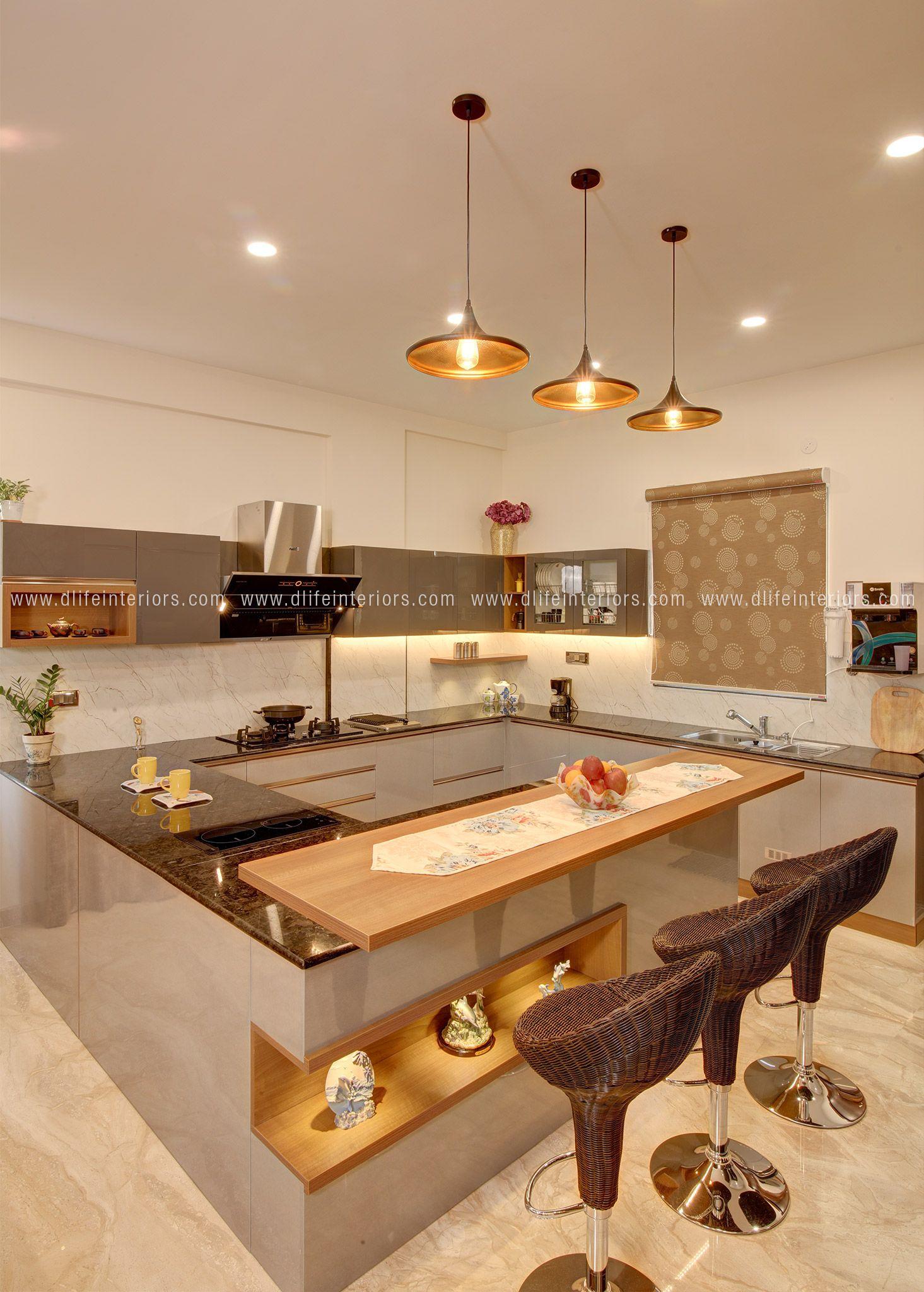 Open Layout Kitchen Design in Bengaluru   Kitchen design, Kitchen ...