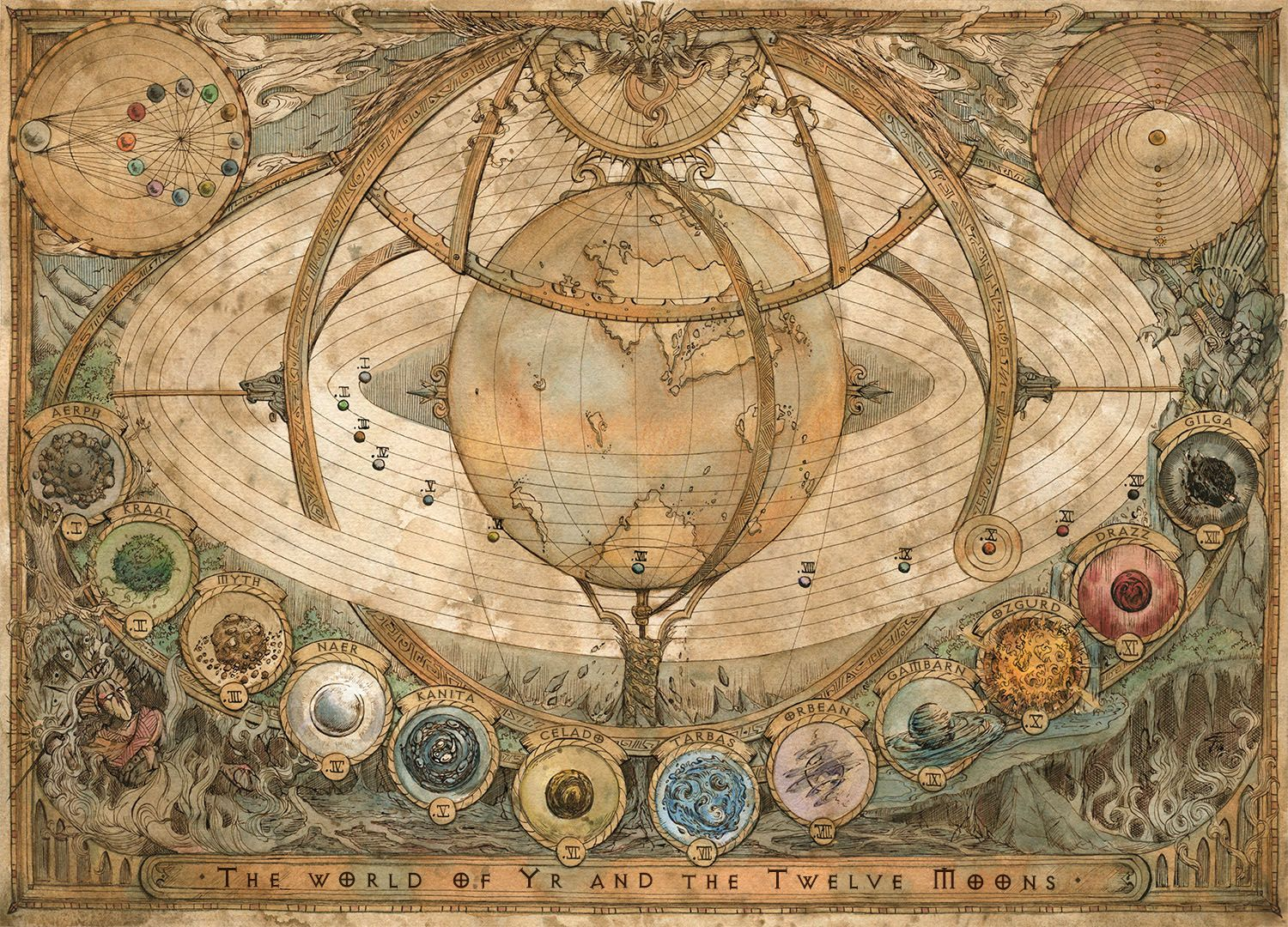 The World of Yr and the Twelve Moons (Art by Francesca Baerald ...