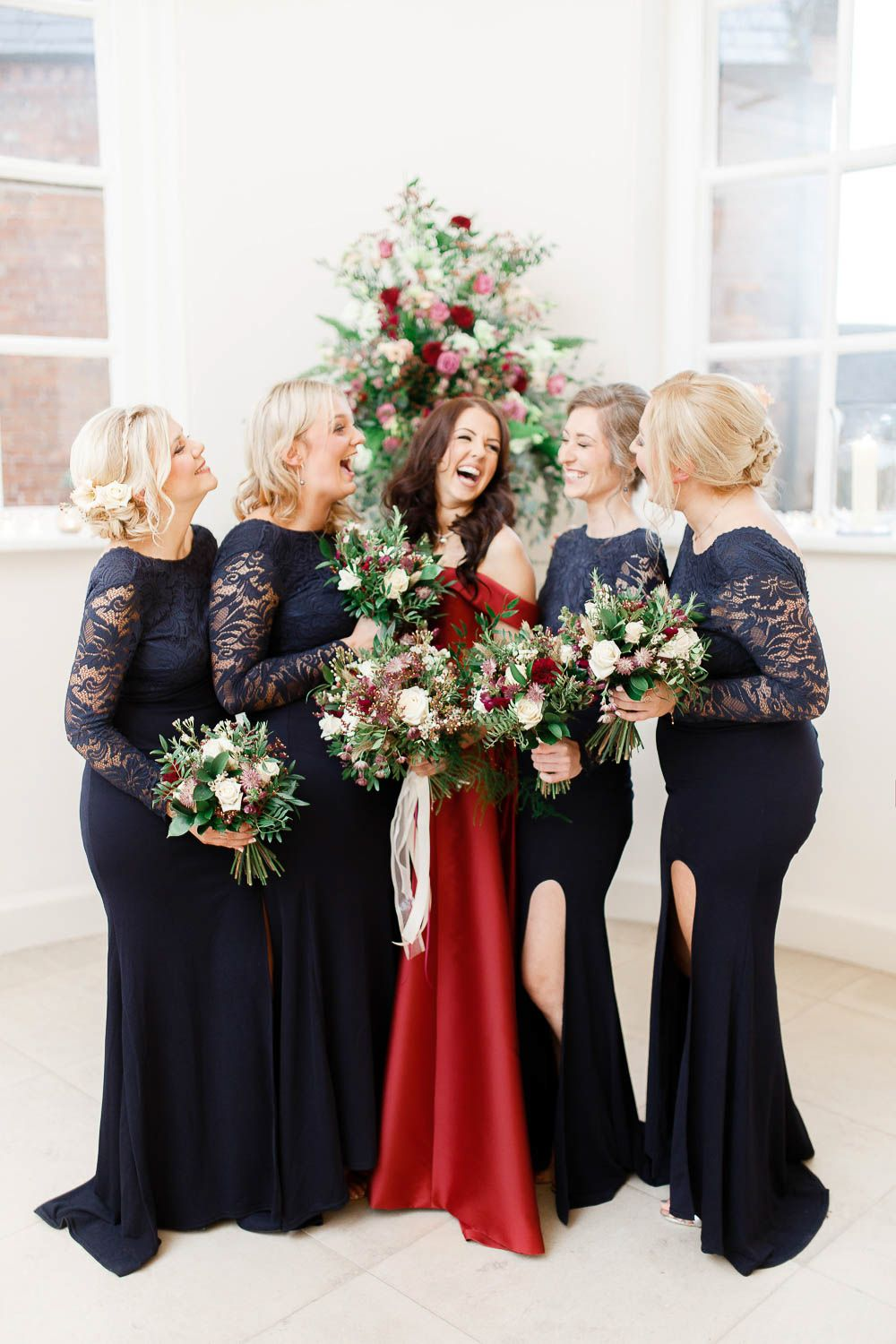Red New Years Eve Winter Wedding at Iscoyd Park