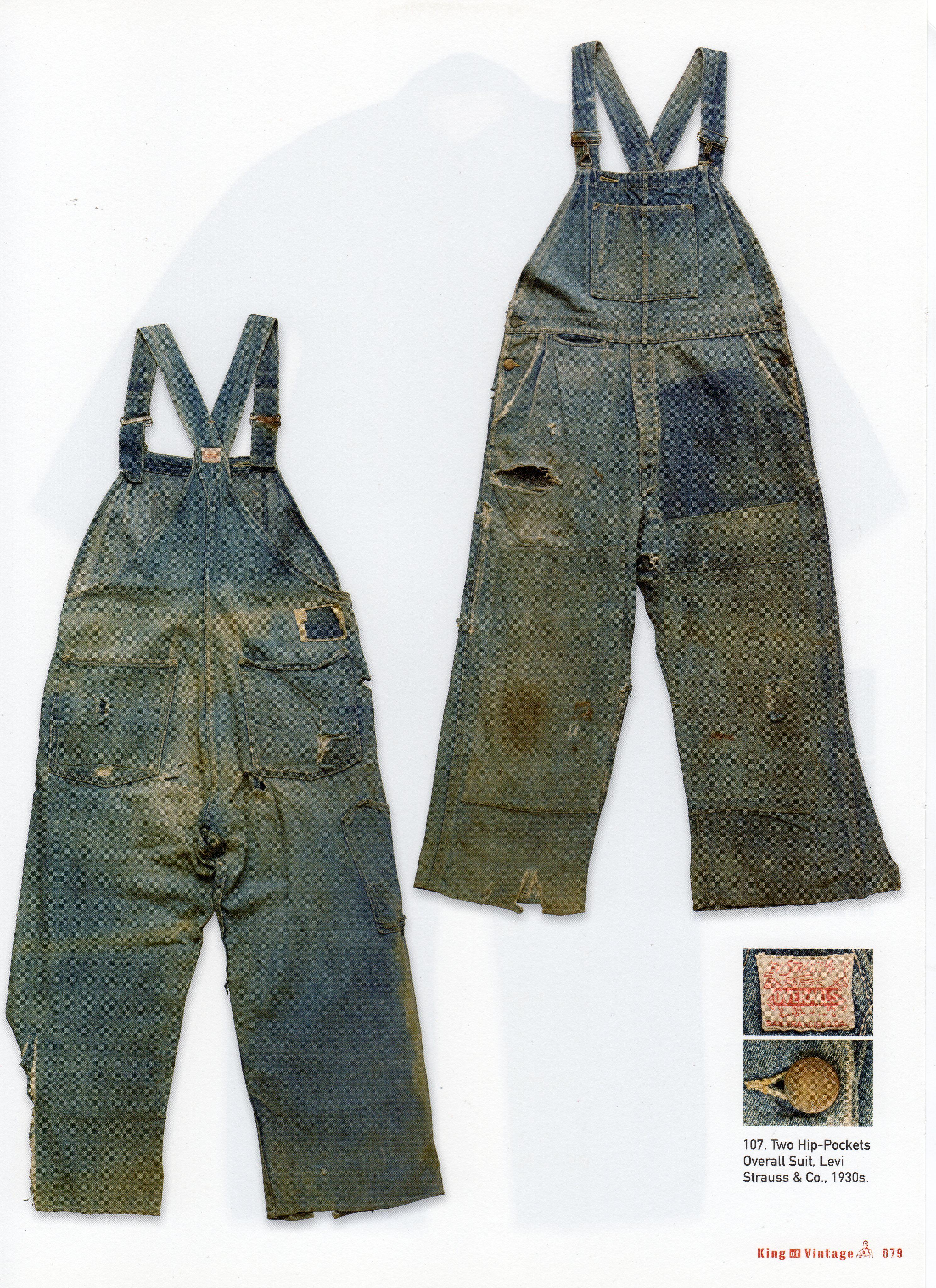 bas prix 1c704 fe5c7 Levi Strauss Bib Overalls, 1930's   jeans   Salopette, Bleu ...