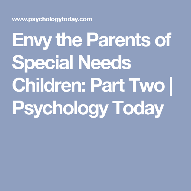 Envy psychology today