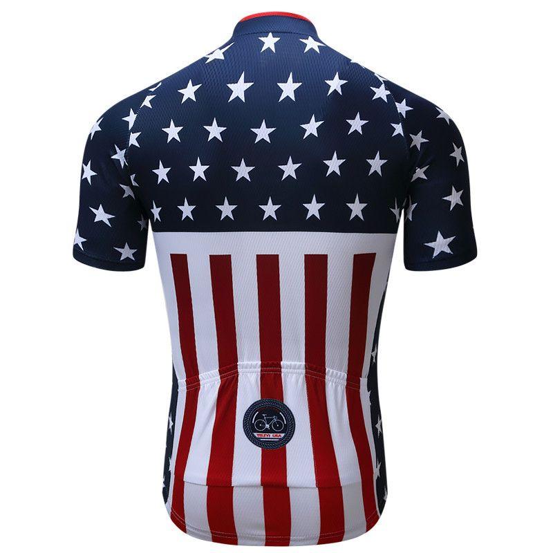 fc60e5e3e USA National Flag Team Men Cycling Jerseys