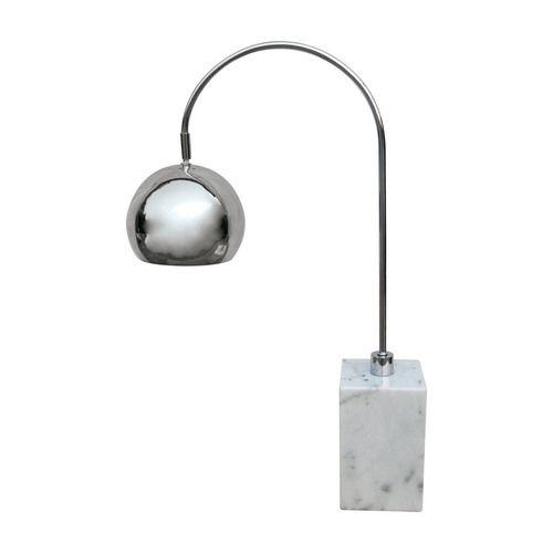 White Marble Base Arc Desk Lamp 308