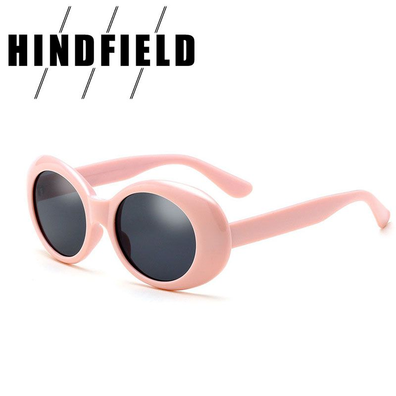 86ccd446af8c30 Fashion Retro Kurt Cobain Sunglasses Women Brand Designer Plastic Frame  Oval Sunglasses For Men Vintage Luxury Pink Sun Glasses-in Sunglasses from  Women s ...