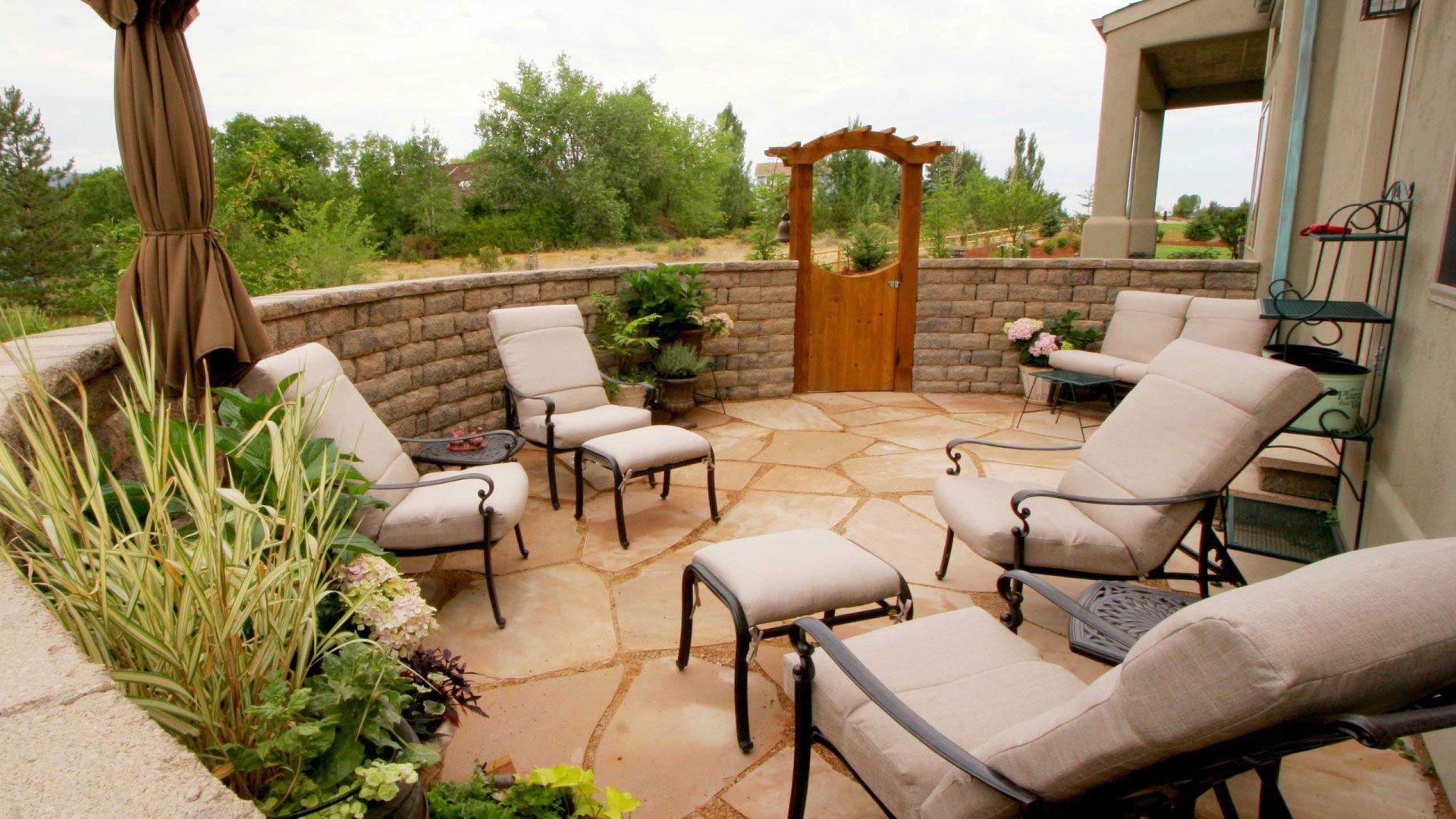 unique patio design from detailed landscape | decks & patios