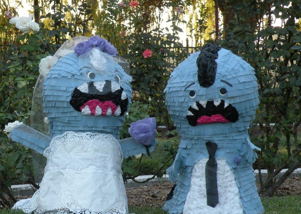 Our Pinatas !!! Bridezilla and Groomzilla Wedding Pinatas-Made to Order. $100.00, via Etsy. http://www.etsy.com/listing/80123803/bridezilla-and-groomzilla-wedding#