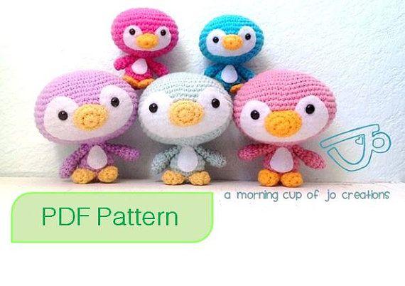 Amigurumi Crochet PDF Pattern - Cute Penguin Family (Instant Download)
