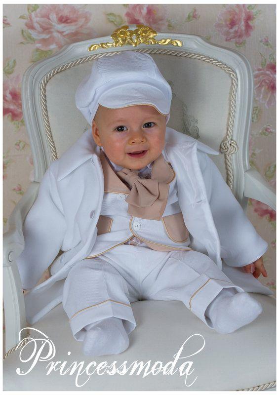 Nr.2 Eleganter Taufanzug aus Cord inkl. Mantel ...