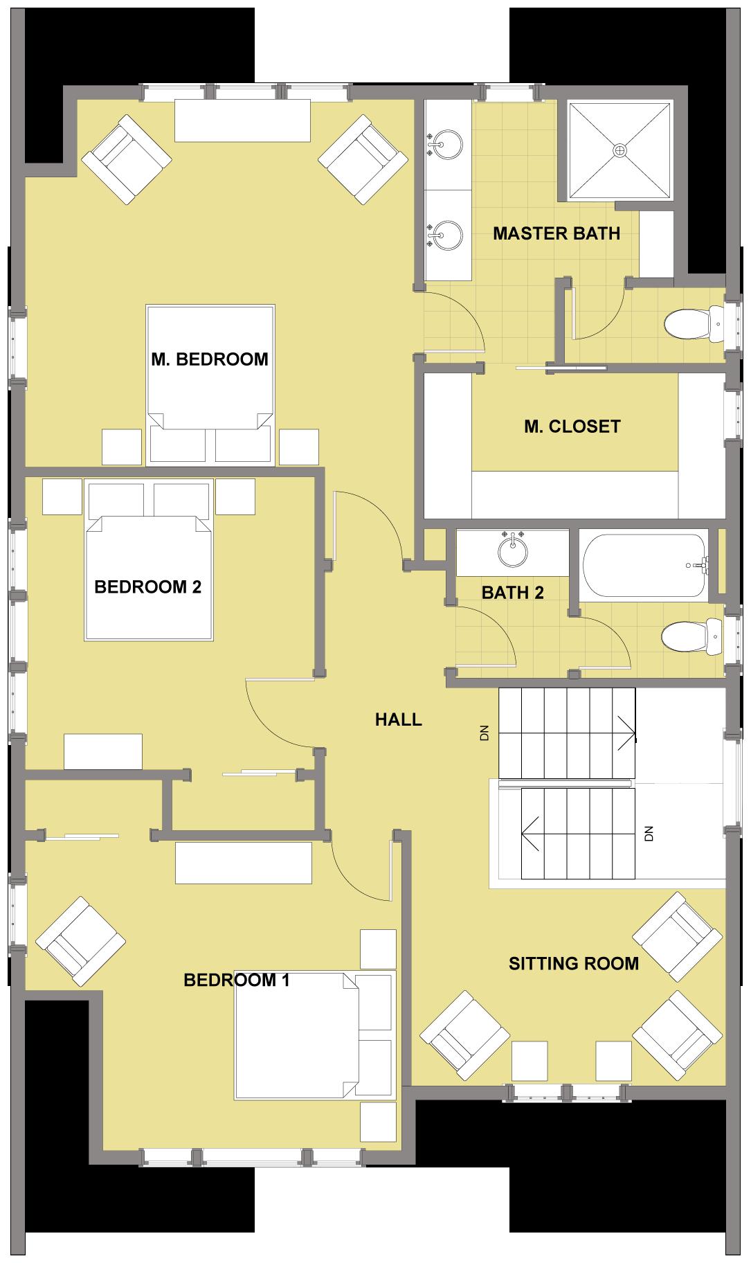 kitsap second floor floor plan reverse floor plan pinterest