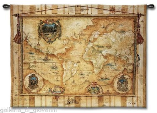 Old world vintage map wall tapestry 53 x 40 antique style art old world vintage map wall tapestry 53 x 40 antique style art gumiabroncs Gallery