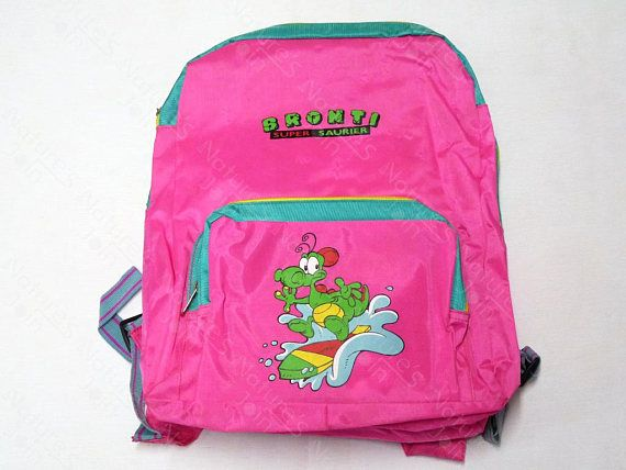 c063c32d98 Bronti Super Saurier Dinosaur Bright Pink Children Backpack for School or  Daily Use. Kids Travel Backpack  etsy  bags  backpack  kids  children   travel ...