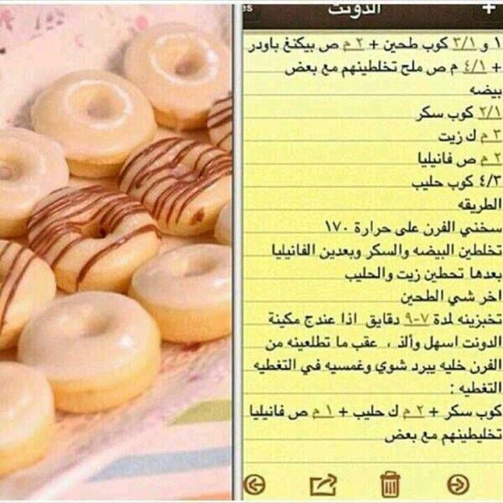 الدونات Arabic Food Food Recipies Cooking Recipes Desserts