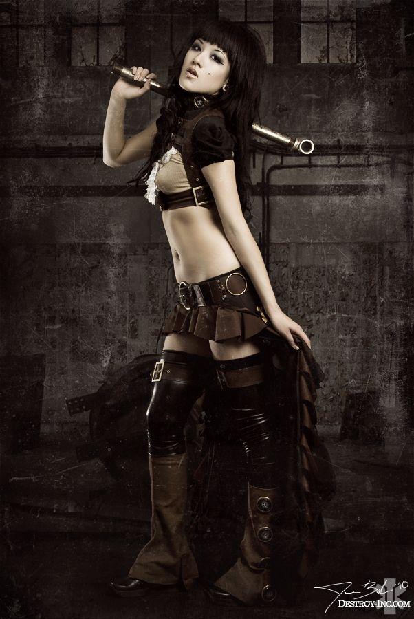Excellent Steampunk Fashion High Waist Pants Fashion Pants Gothic Rock Women