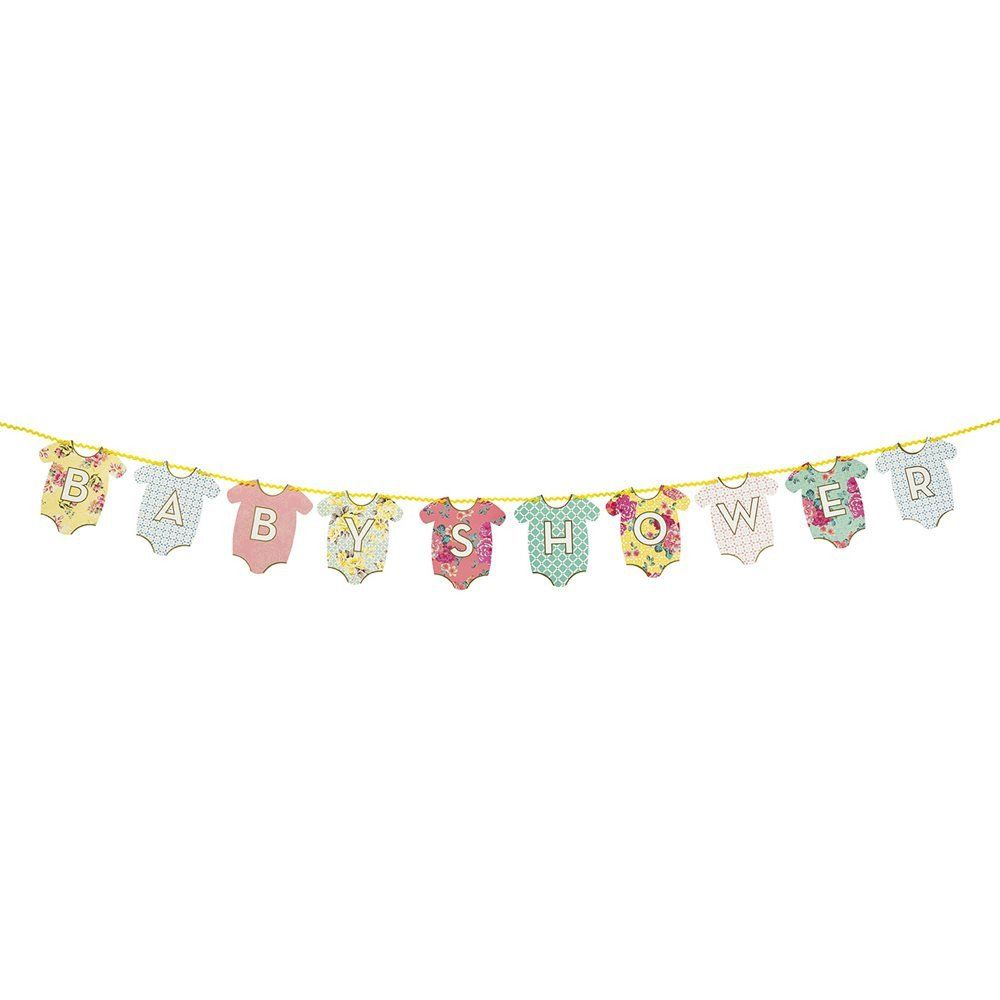 Reversible baby shower garland. Choose between ''Hello Baby'', or ''Baby Shower''. Available at www.moss.ie, or in store on Dundrum Main Street.