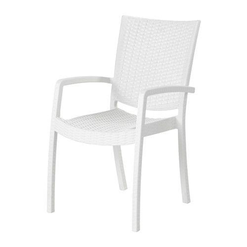 Innamo Chaise Avec Accoudoirs Exterieur Blanc Chaise Accoudoir Mobilier De Balcon Et Chaise Fauteuil