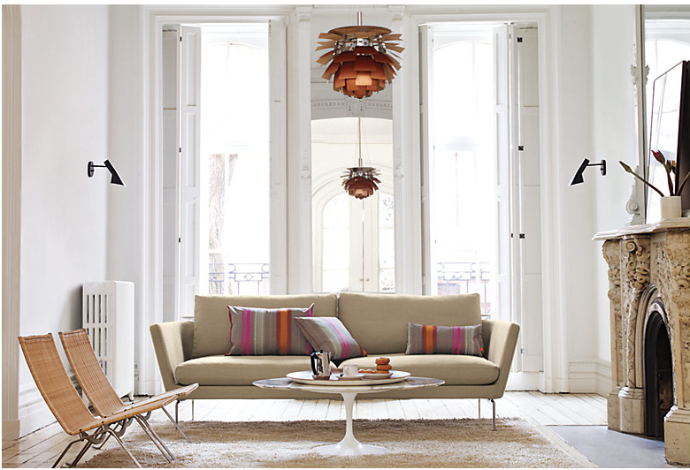 Saarinen Coffee Table Design Within Reach Living Design Interior Design High Ceiling Living Room
