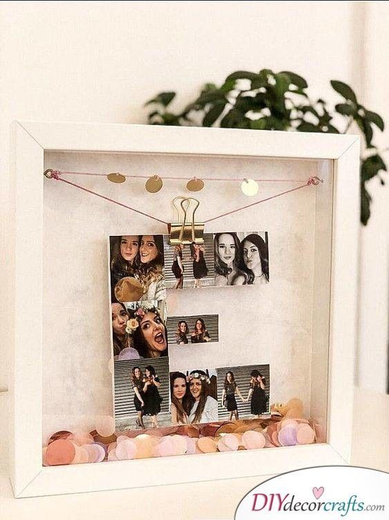 letter out of photos fabulous ideas for birthday gifts geschenke mit foto geschenke und