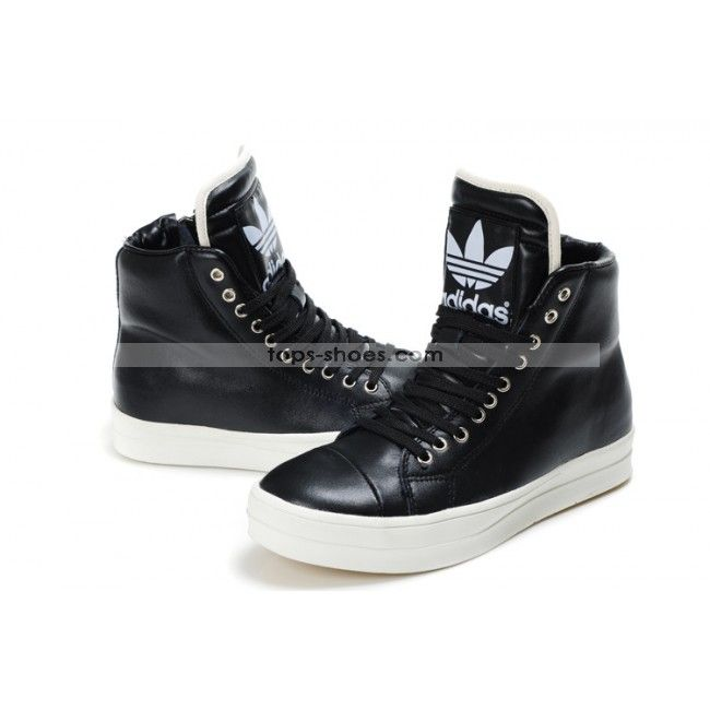 reputable site d29bf 654e6 High Tops Adidas Shoes Big Tongue Zipper Black