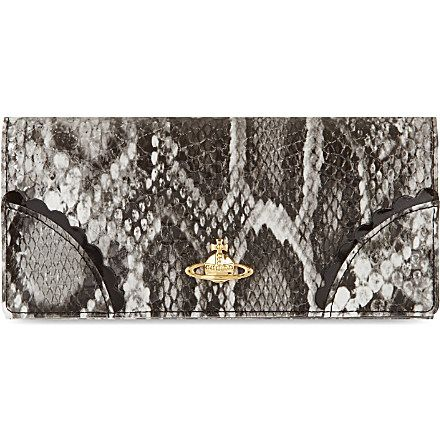 VIVIENNE WESTWOOD Frilly snake purse (Grey