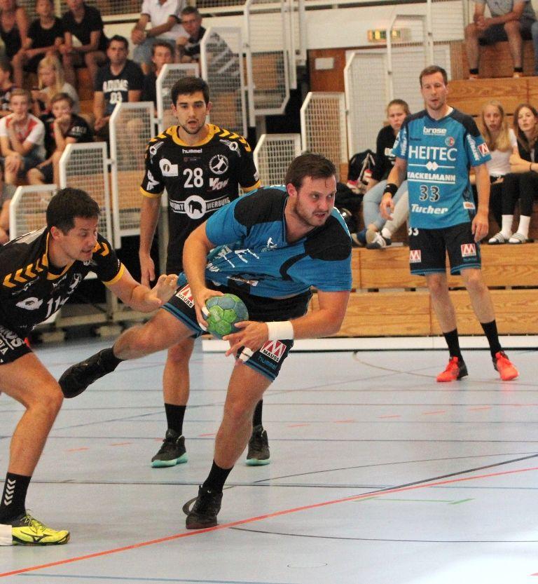 HC Erlangen gewinnt gegen Handball Bregenz mit 33:23. Kreisläufer Jonas Thümmler war mit acht Treffern erfolgreichster Werfer des HCE. #hcerlangen #erlangen #hlstudios #Handball #dkbhbl #hce #wirsindwiederda  www.hc-erlangen.de
