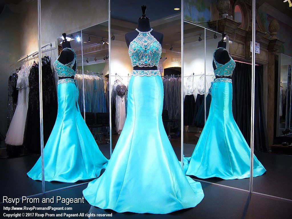 Aquagreen two piece prom dress beauty pinterest prom aqua