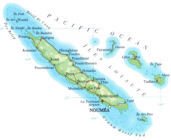New Caledonia My Home Town Noumea In New Caledonia Pinterest - New caledonia map