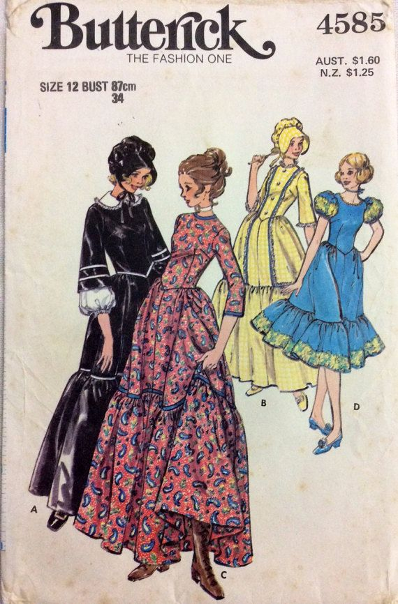 1970s steampunk frontier square-dance or by 101VintagePatterns ...
