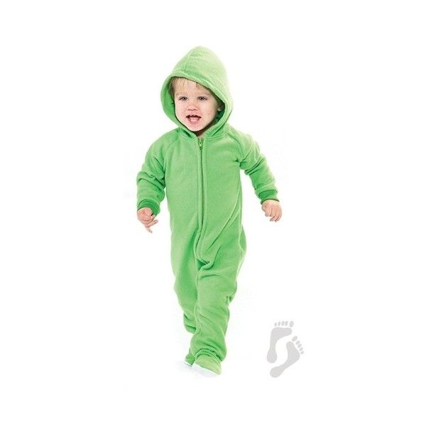 f9c9a819e0ae Emerald Green Hoodie One Piece - Infant Hooded Footed Pajamas ...