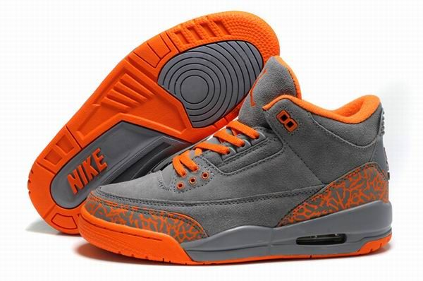 grey and orange jordans