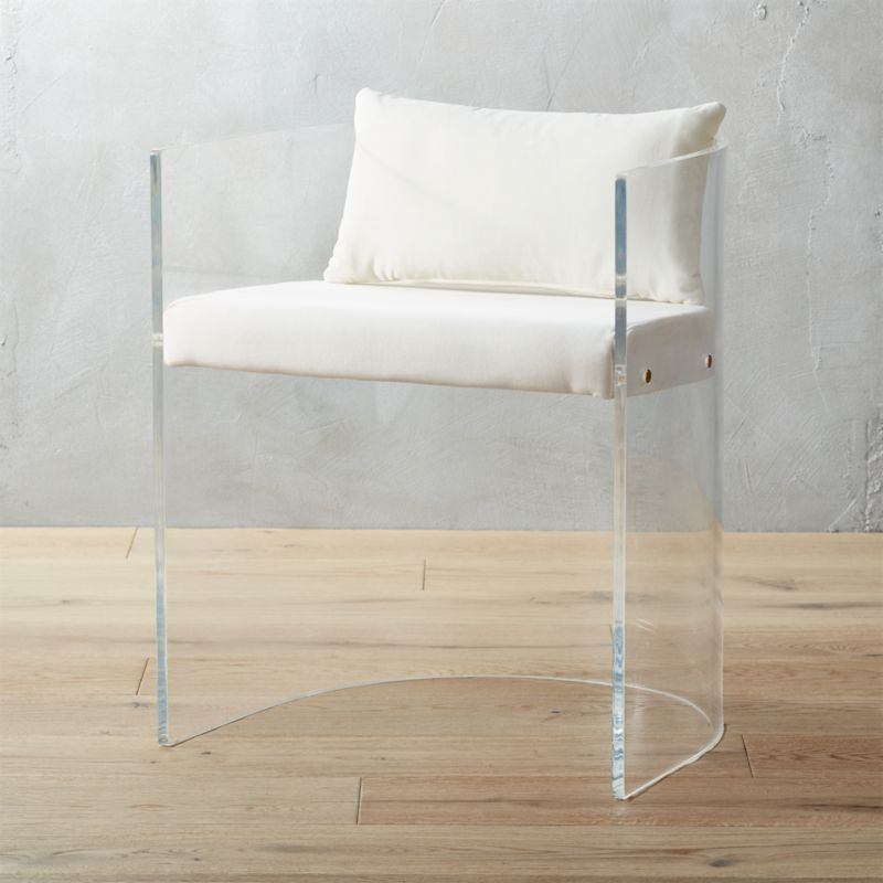 Shop Antonio Acrylic Chair With Pillow This Show Stopping Chair Has A High End Vibe You Can T Match For The Price Acrylic Chair Furniture Modern Dining Chairs