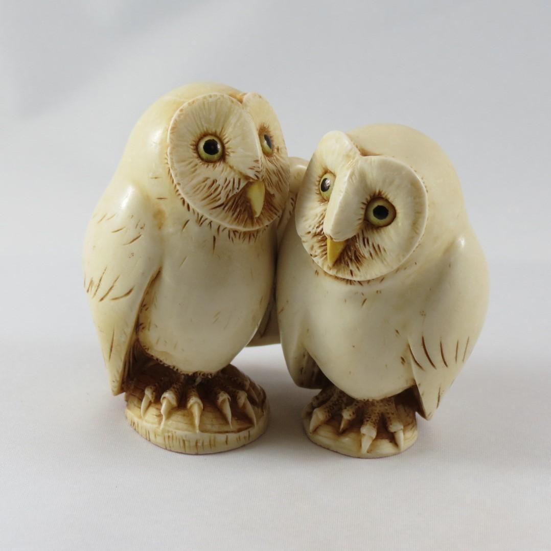 Harmony Kingdom Franklin And Eleanor Two By Two Owl