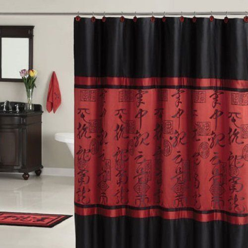 shower Red curtain asian