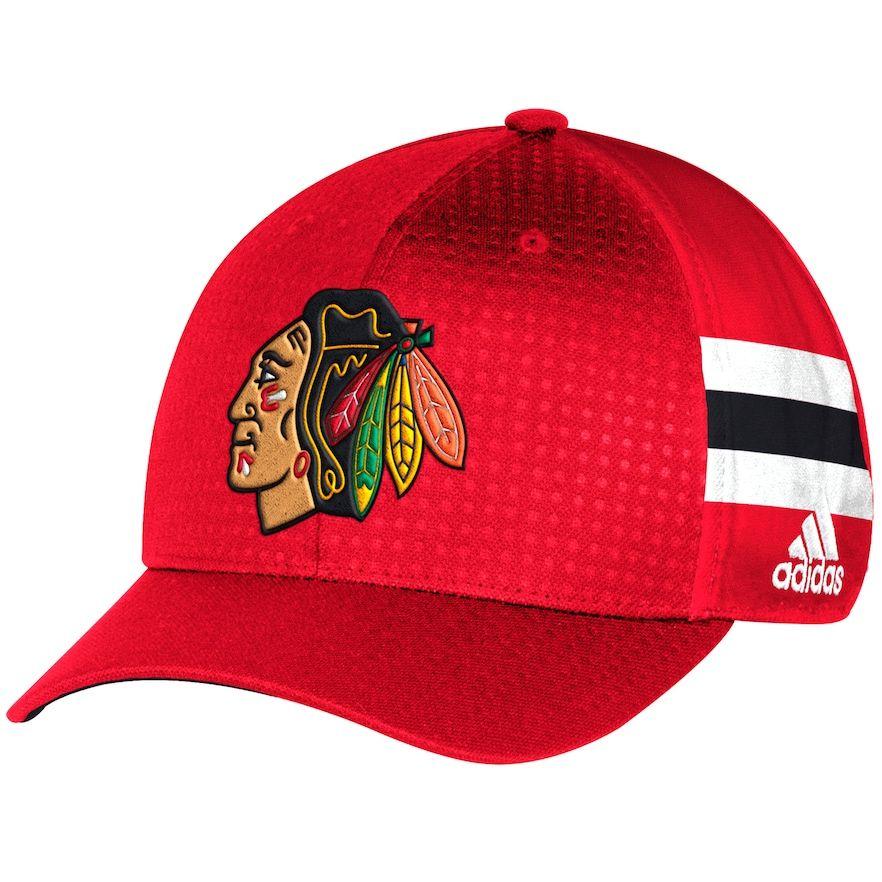 Adult Adidas Chicago Blackhawks NHL Draft Flex-Fit Cap a5ad28592