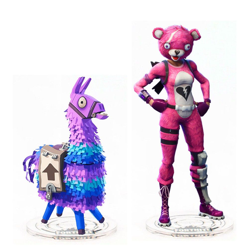 Fortnite Llama Cuddle Team Leader Pink Bear Skin Acrylic Stand