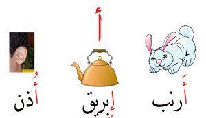 هيا نكون كلمات تبدأ بحرف الألف بالحركات الثلاث فتحة كسرة ضمه Arabic Alphabet For Kids Learning Arabic Arabic Alphabet