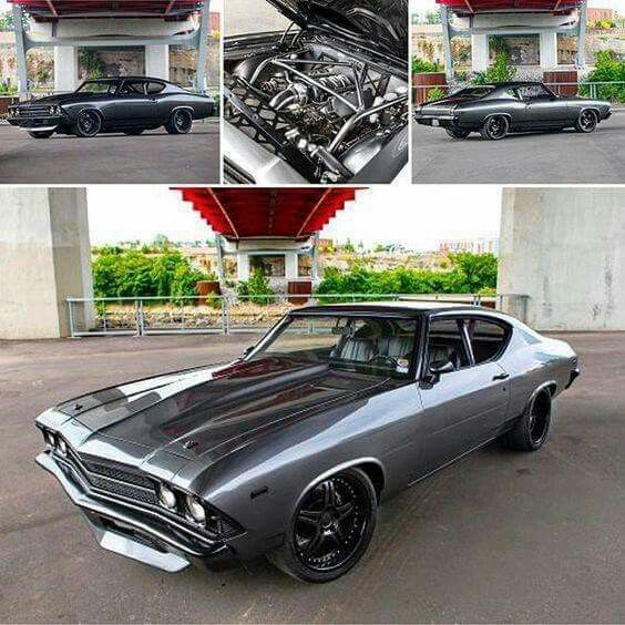 55 Best Badass Chevelles Images On Pinterest: '69 Chevelle Grey & Black Pro-Touring