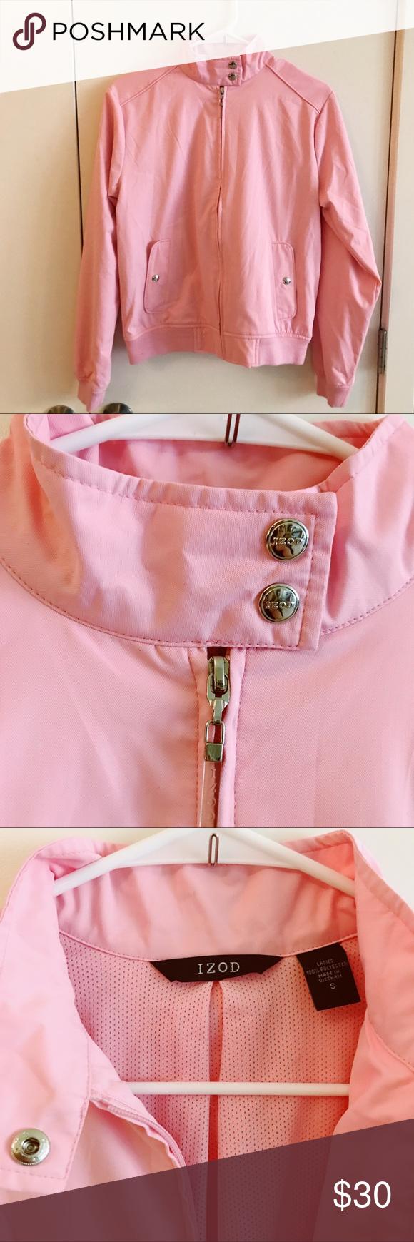 New Izod Vintage Classic Style Bubblegum Jacket Pink Jacket Classic Style Jackets [ 1740 x 580 Pixel ]