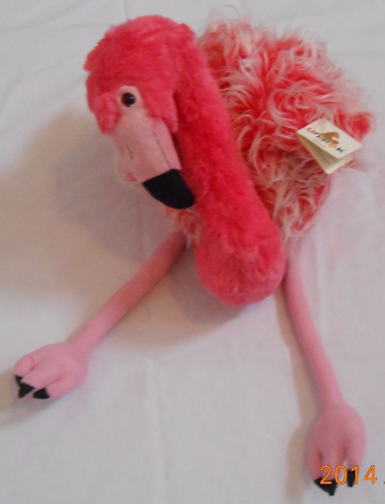 Large Pink Flamingo 26 Plush Stuffed Animals New With Tags Unipak