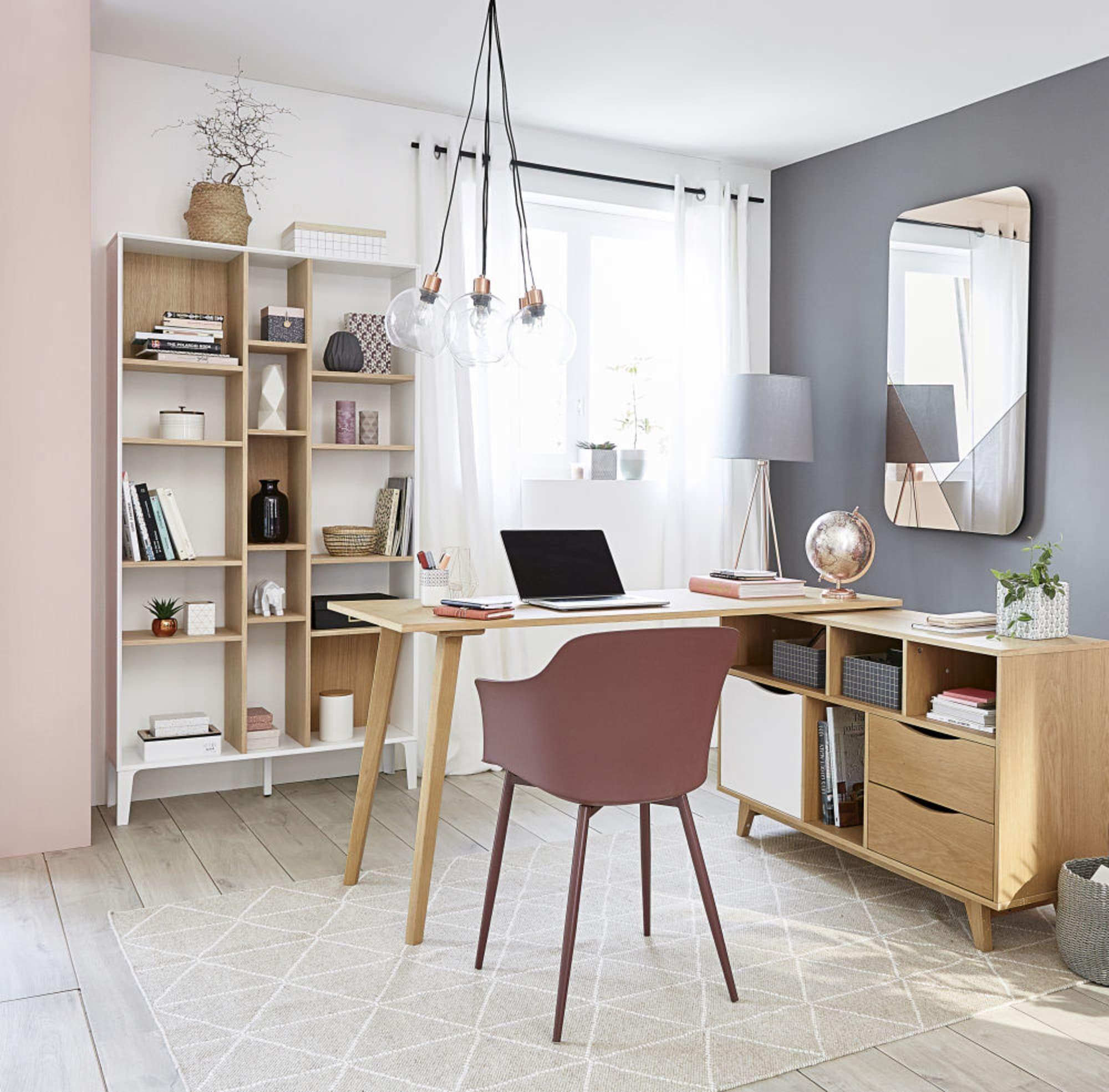 Two Tone Unstructured 15 Compartment Shelf Unit Maisons Du Monde Bureau Angle Decor De Bureau A Domicile Bureaux Maison Modernes