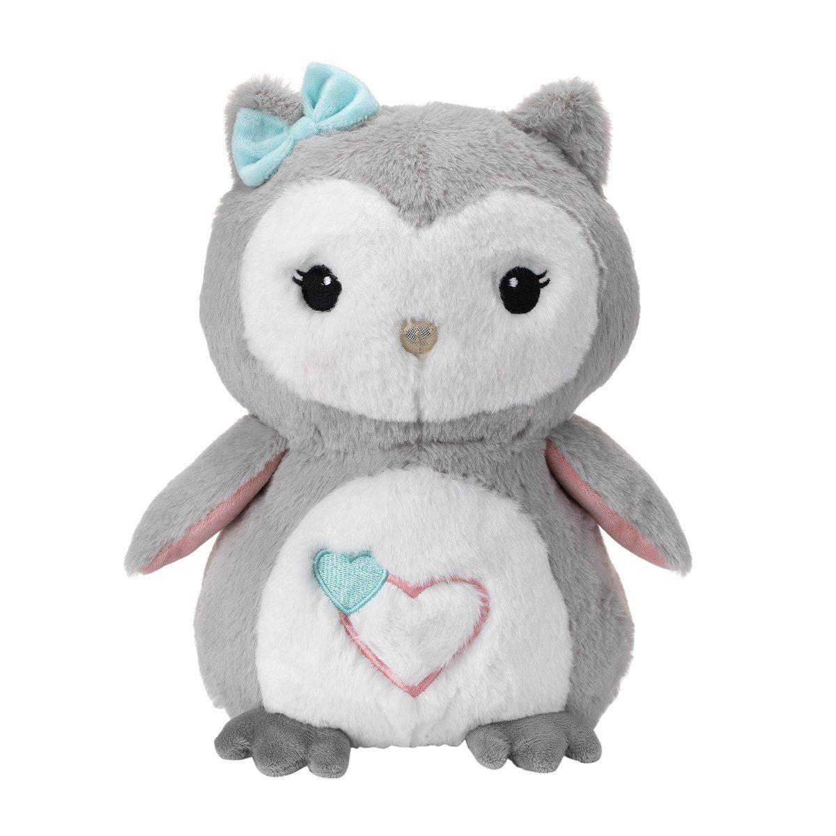 e6990d9099b Lambs   Ivy Luna Owl Plush Toy In White