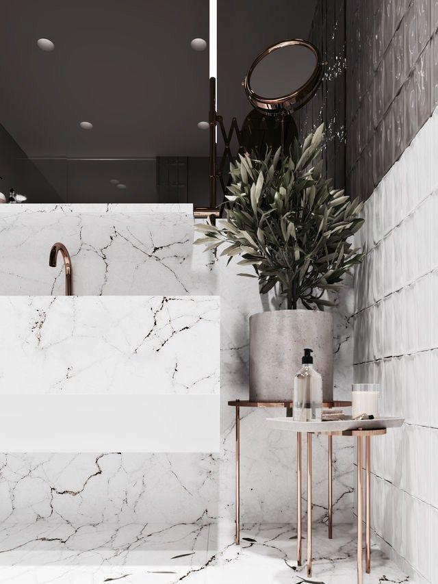 Bathroom Inspo Style Badkamer Marmer Huis Ideeen Decoratie Badkamerideeen